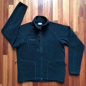 Columbia Fleece Full Zip Jacket Men's Small Black